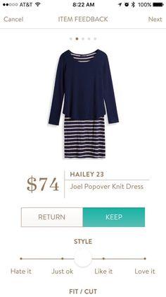 Hailey 23- Joel Popover Knit Dress.  stitch Fix.