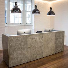 Concrete Reception Desks | Custom Made Designs | Apres Furniture