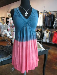 Darling, super soft, babydoll tunic/top! The color-blocking is playful and the fit is ideal!! Precious with leggings or capris! Sz: S-L $44