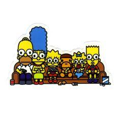 #1220 Baby Milo x The Simpson Family , Width 8 cm, decal sticker - DecalStar.com