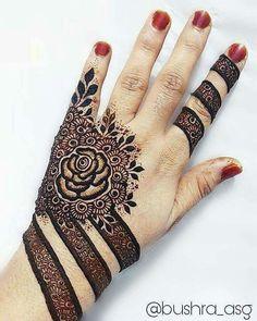 50 Most Attractive Rose Mehndi designs to try - Wedandbeyond New Henna Designs, Khafif Mehndi Design, Floral Henna Designs, Finger Henna Designs, Modern Mehndi Designs, Mehndi Design Pictures, Latest Mehndi Designs, Bridal Mehndi Designs, Mehandi Designs