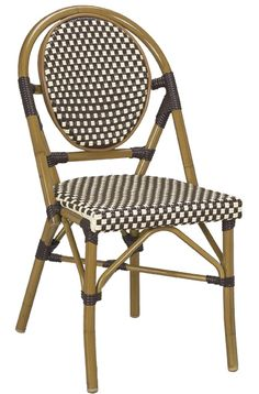 french bistro chairs walnut frame brownivory weave