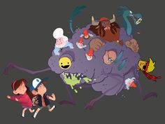 This is totally spirited away, I love it! Gravity falls is the ish