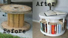 Recycled Electrical Cable Spool.