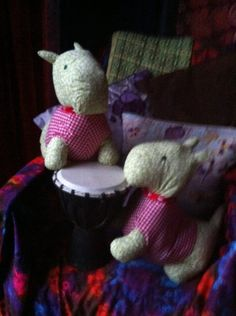 That's it the Scotty Dogs are going back to the shop they are keeping the neighbours awake at night playing on these bongo drums...