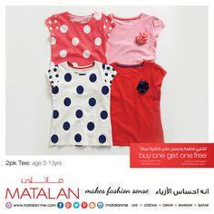 2pk Tee: age 3-13yrs  www.matalan-me.com   #Matalanme #2pkTee #Kids #Buy1Get1 #Free #Offer #Trend #GoodQuality #GreatPrice #MakesFashionSense #AlBarakaMall #ArabianCentre #DalmaMall #LamcyPlaza #MushrifMall #CenturyMall #MirdifCityCentre #SaharaCentre #GalleriaMall #Gulfmallqatar #ALGhurairCentre #KhalidiyahMall #BahrainCityCentre #RAKMall #WafiMall #AlFoahMall #MarkazAlBahja #Omanavenuesmall #MeccaMall