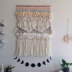 CUSTOM LARGE woven wall hanging by Maryanne Moodie