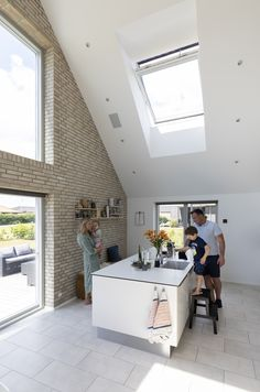 Home In 2019 Velux Daylight In Kitchens Loft Playroom Roof Loft Playroom, Playroom Ideas, Interior Design Kitchen, Kitchen Designs, Kitchen Ideas, Single Storey Extension, Modern Basement, Roof Window, Family Kitchen