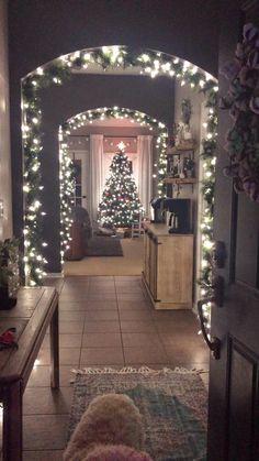DIY Lighted Garland Wonderland