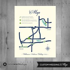 Custom Wedding Map. $50.00, via Etsy.