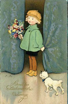 Herzlichen Glückwunsch zum Geburtstage, Fritz Baumgarten 1924 Postcard