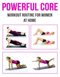 Powerful core workout routine for women at home. #fitness