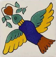 Mexican Tile - Colorful Bird Ceramic Talavera Mexican Tile