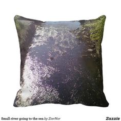 Small river going to the sea pillow