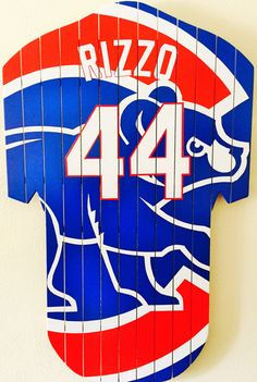 ALL NEW!!! Original Chicago Cubs abstract artwork Anthony Rizzo by BCAdirondacks on Etsy