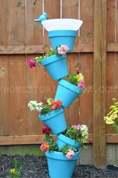 Best DIY Projects: Easy tutorial for topsy turvy planter and bird bath.