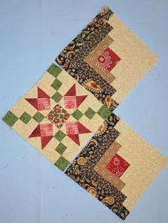Two Sew'n Wild Oaks Classes Were In Session Wool Quilts, Star Quilts, Scrappy Quilts, Édredons Cabin Log, Log Cabin Quilts, Log Cabin Quilt Pattern, Quilt Block Patterns, Colchas Quilt, Quilt Blocks