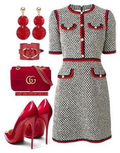 Gucci, Christian Louboutin, Oscar de la Renta and Valentino Classy Outfits, Chic Outfits, Dress Outfits, Fashion Dresses, Outfits Riverdale, Look Chic, Work Attire, Mode Inspiration, Mode Style