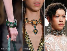 Fall/ Winter 2016-2017 Accessory, Jewelry Trends: Colorful Beads, Gemstones