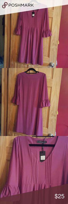 New Women's Dress New Women's Dress fuschia color size large. Non smoking home. Ice Silk Dresses