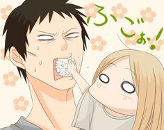 Usagi Drop [anime], Artworks / Fanart [tag], chibi [tag], food / sweets / icecream / cooking [tag], funny [tag], loli [tag], Rin Kaga [tag]