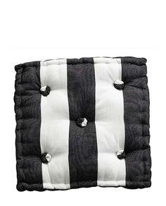 Sitzkissen Mega Stripes black von TineKHome