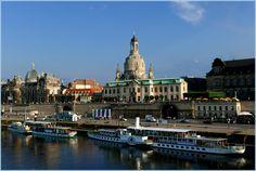 Dresden, Blick von der Augustusbrücke... von Andreas Lucke Bamberg