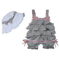 Baby 2016 Fashion 2pcs Set Girl Baby Bowknot Suit Sleeveless Baby Romper +baby Hat