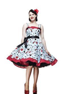9a60b7ea67 Hell Bunny 50 s Dress Dixie Blue - Size 8-20  Amazon.co.uk  Clothing