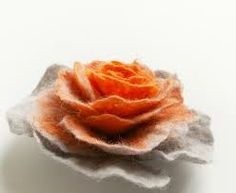 felted flower brooch - Google Search