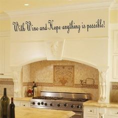 Amazon Com Wine Decorations Wall Art Decor Removable Sticker Decals With Wine Hope