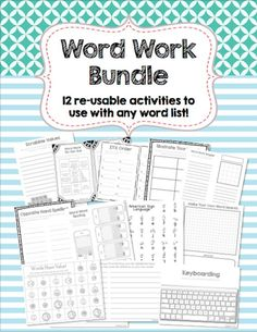 This is a set of 12 re-usable activities and games that kids can use with any spelling list. These activities are made to be printed and reproduced in black and white for your convenience. Simply print and use!