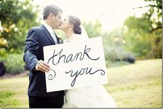 """@Kymberly Ebright - I love the idea of taking a """"thank you"""" card picture @ the wedding.... Thinking of maybe decorating a parasol?"""