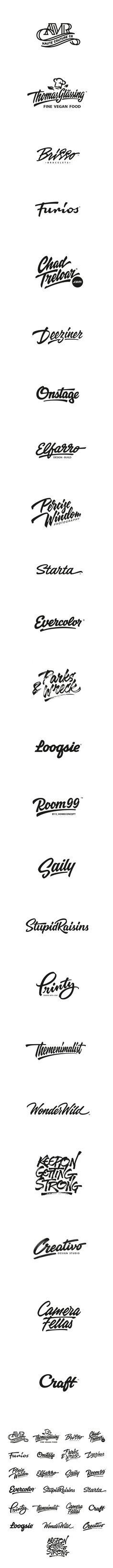 Lettering logotypes , compilation 3 on Behance