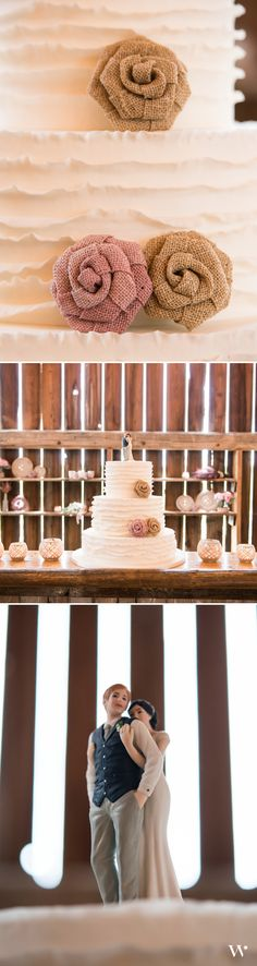 So sweet - these homespun wedding cake ideas are perfect for a barn wedding! Especially our Sweet Embrace Wedding Cake Topper! Customize your own here: http://www.weddingstar.com/product/a-sweet-embrace-%E2%80%93-bride-embracing-groom-couple-figurine
