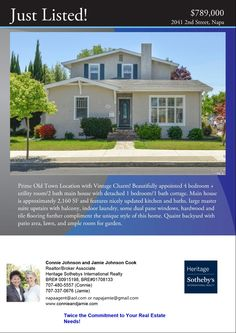 SOLD! 2041 2nd Street. Super charming 4 bedroom + utility room/2 bath main house with 1 bedroom/1 bath detached guest cottage. Listed for $789,000.