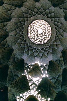 Ceiling ornaments in a Bazar building in Yazd, Iran
