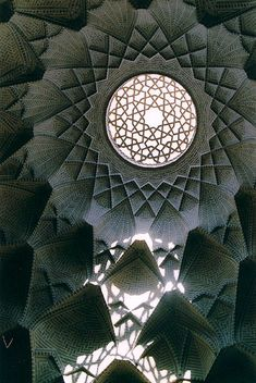 Ceiling ornaments in a Bazar building in Yazd, Iran