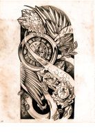 Tattoo Sketches for Men | deviantART: More Like Timeless Sleeve Sketch by WillemXSM