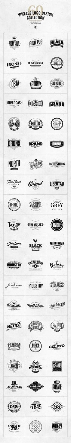 With this bundle you have a chance to get yourself 10 vintage logo templates packs and save over 50% OFF their regular price ( $60 ). Contains 60 vintage logo templates, perfect for branding projects, apparel design, typography, corporate identity, packag…