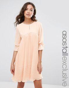 ASOS+TALL+Pleated+Swing+Dress