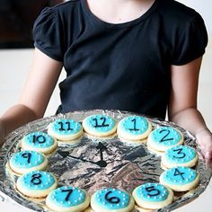 A clock made out of cookies