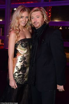 Stylish pair:Kelly Simplin and Nicky Clarke were among the stars to show their support fo...