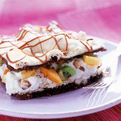 Minttusuklaa-britakakku | K-ruoka #persimon Pie, Eggs, Baking, Breakfast, Desserts, Koti, Pinkie Pie, Bread Making, Breakfast Cafe