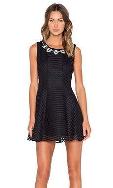 J.O.A. Mesh Mini Dress in Black