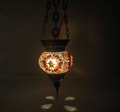 Moroccan lantern Hanging light Turkish lamp Night Shade Mosaic Glass lamp t 13 #Handmade #Moroccan