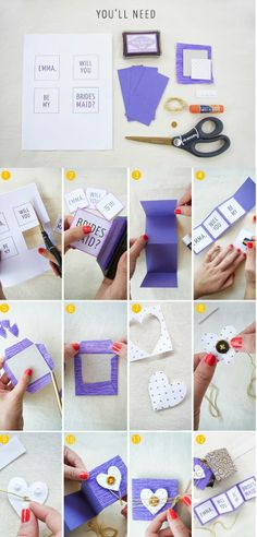 DIY Tutorial Craft Supplies Bridesmaids Maid of Honor Project