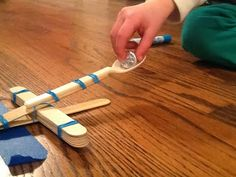 Measurement activity with catapults. So fun!