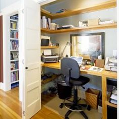 Home Offices    closet bi-fold doors