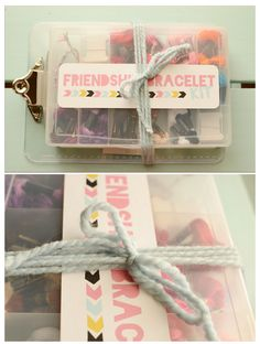 Ruffled Sunshine: The Friendship Bracelet Kit {with free download}